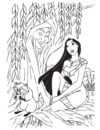 NerdLoveShop_ColoringPage_Pocahontas