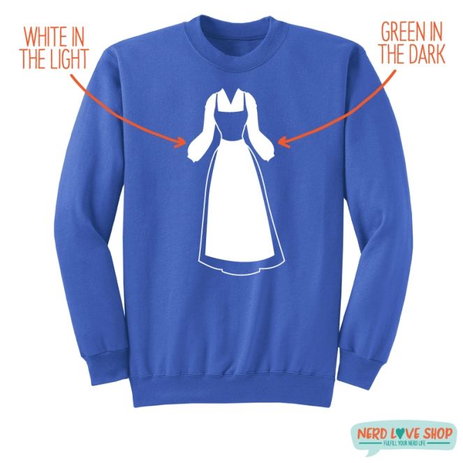 NerdLoveShop_BelleGown_BlueCrewNeck_White