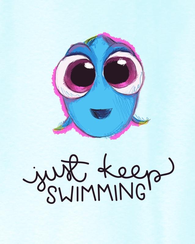 Freebie Friday #40: Just Keep Swimming – Nerd Love Shop